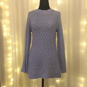 Periwinkle blue sweater with sparkle